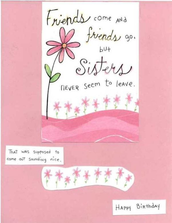 42 Most Happy Funny Birthday Pictures Images – Cute Birthday Card for Sister