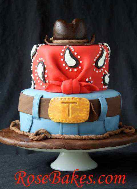 Cowboy Inspired birthday cake pictures