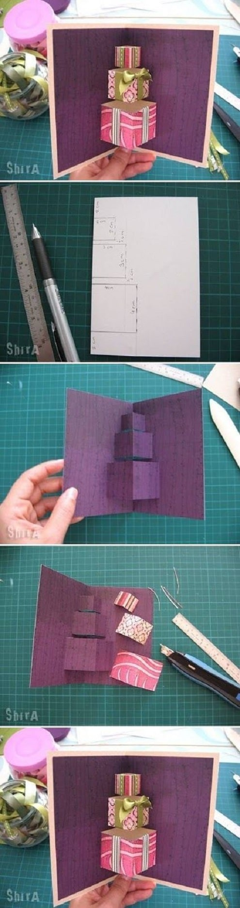 3D birthday card ideas easy to make