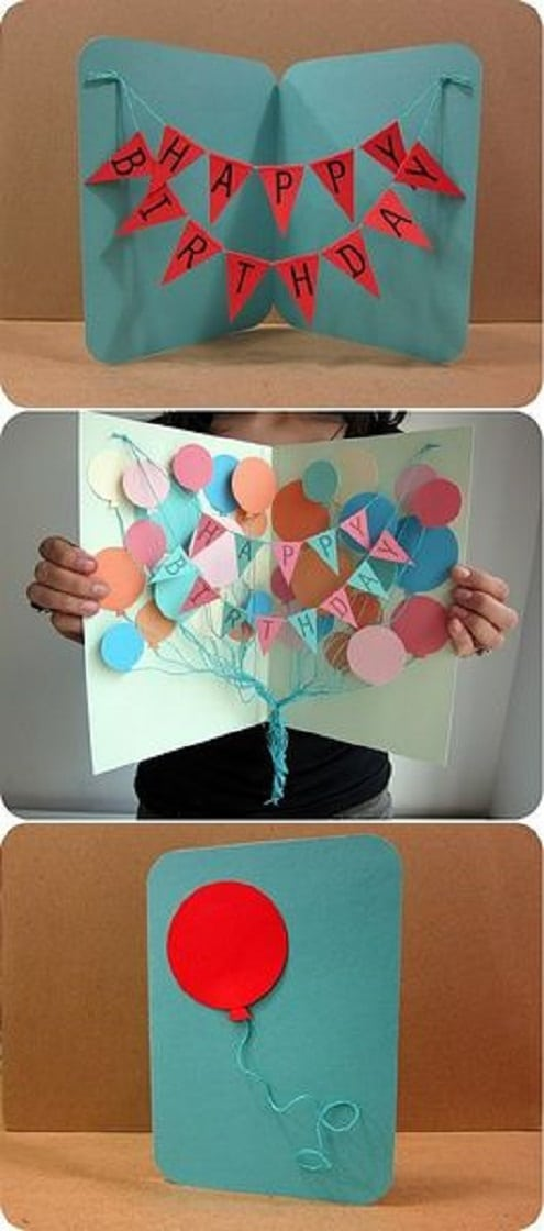 32 Handmade Birthday Card Ideas and Images – Cool Birthday Card Ideas