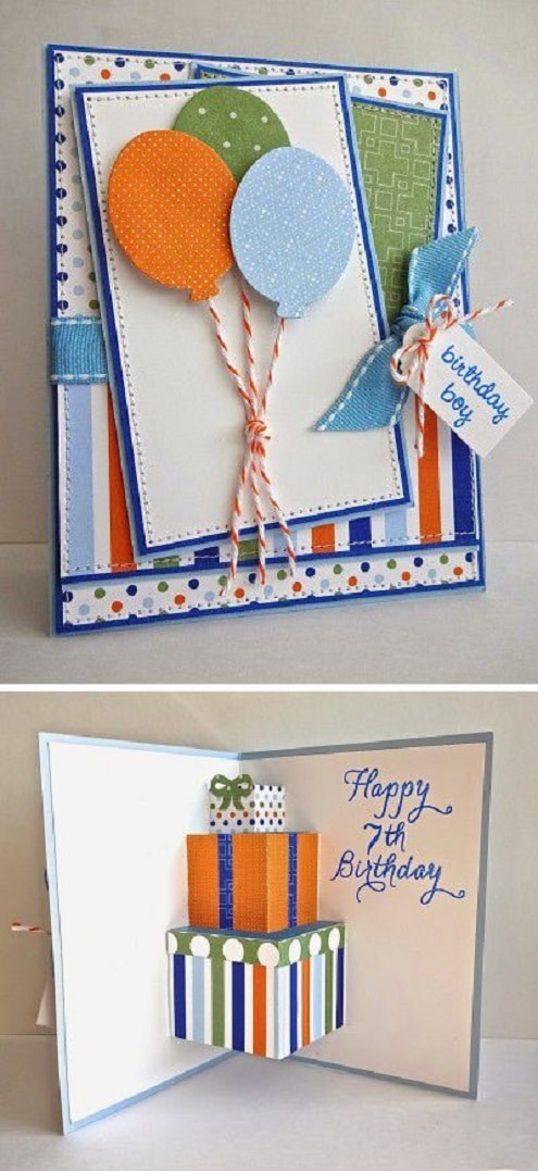 32 handmade birthday card ideas and images homemade diy birthday card ideas for boyfriends bookmarktalkfo Gallery