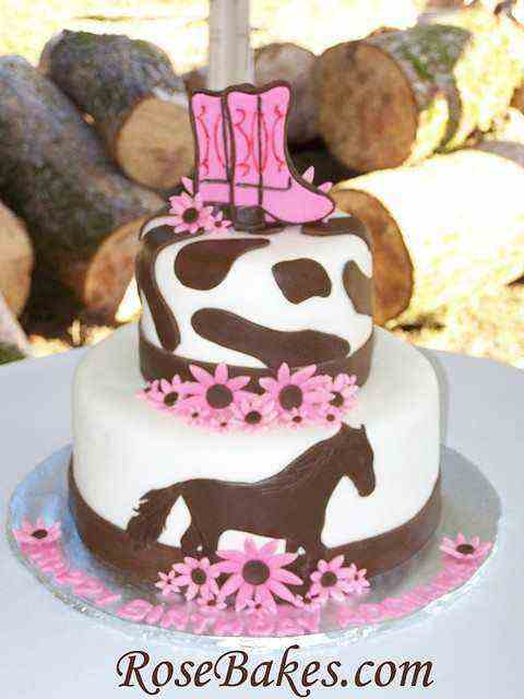 birthday cake pictures Cowgirl Horse Themed
