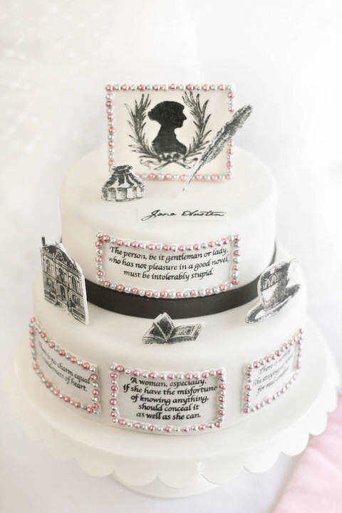 Jane Austen Inspired birthday cake pictures