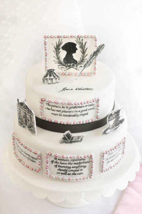 Jane Austen Inspired birthday cake pictures