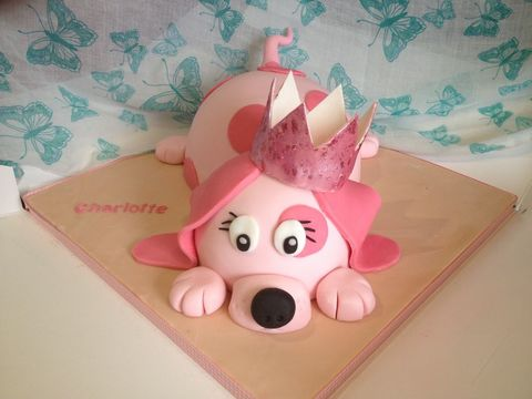Your pet dogs' birthday cake pictures pink dog