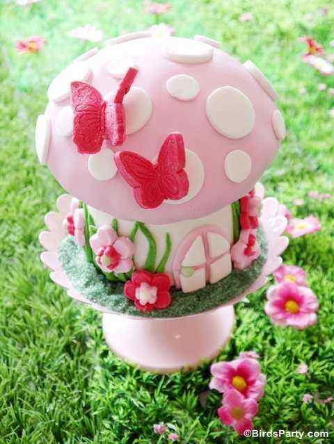toadstool fantasy themed birthday cake pictures