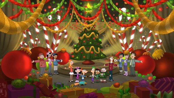 christmas pictures phineas and ferb