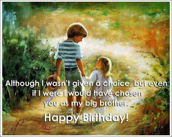 Birthday Greeting Card Brother