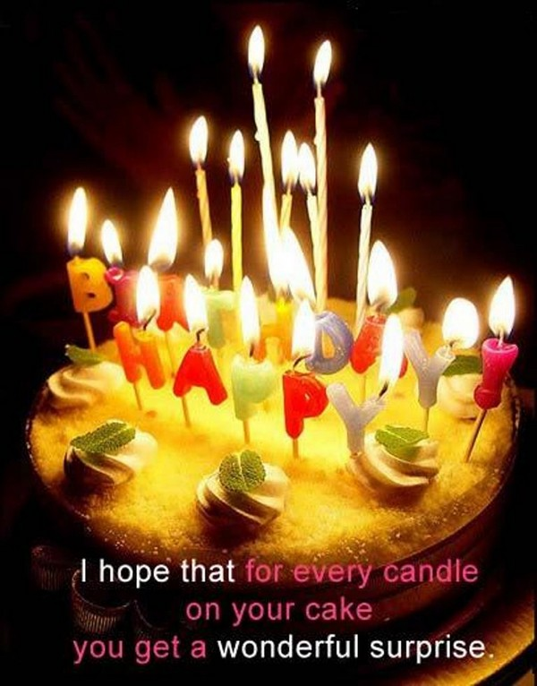 I Hope That For Every Candle On Your Cake You Get A Wonderful Surprise Birthday Wishes Greeting Cards