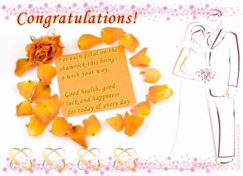 Happy Wedding Greetings on Cards