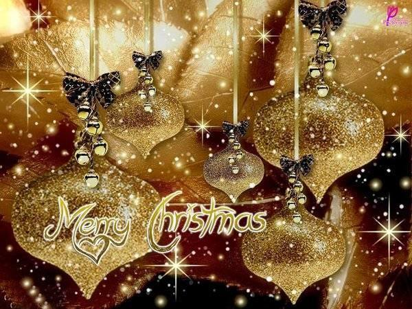 merry christmas gold pictures