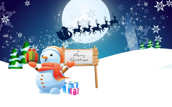 merry christmas picture to draw clipart