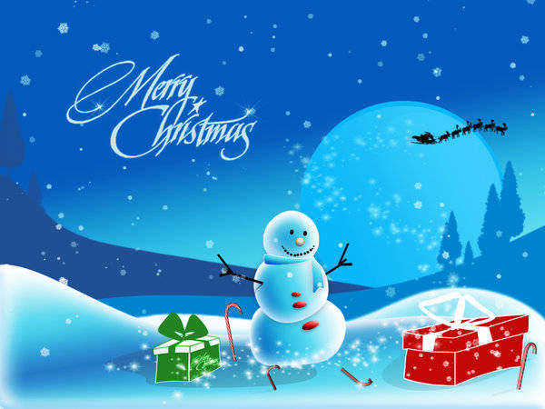 merry christmas picture to draw snowman