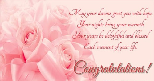 Short Cute Wedding Wishes  Congratulations Have A Happy Married Life May You Both