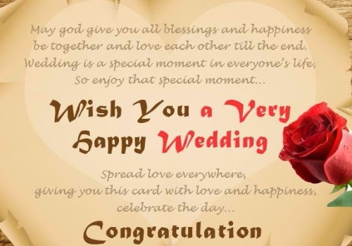 Wedding Card Wishes.52 Happy Wedding Wishes For On A Card