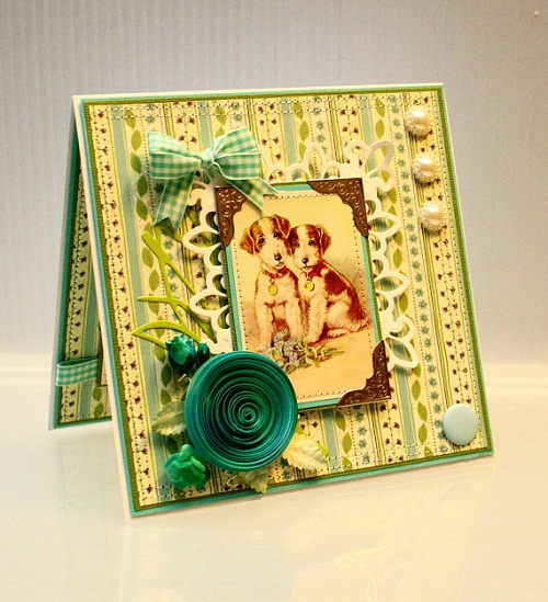 most beautiful handmade greeting cards from etsy, Greeting card