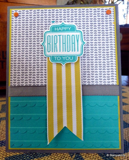 Green Ribbon Handmade Greeting Cards
