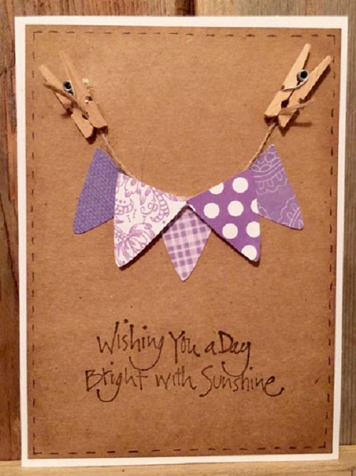 Purple Banners Handmade Greeting Cards