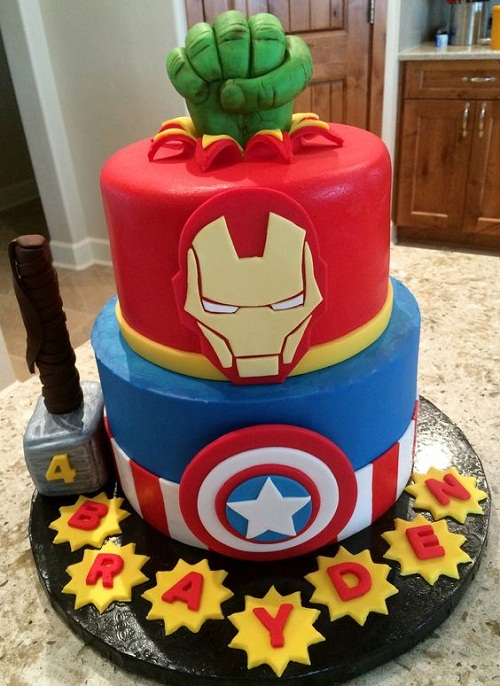 Homemade Superhero Birthday Cakes