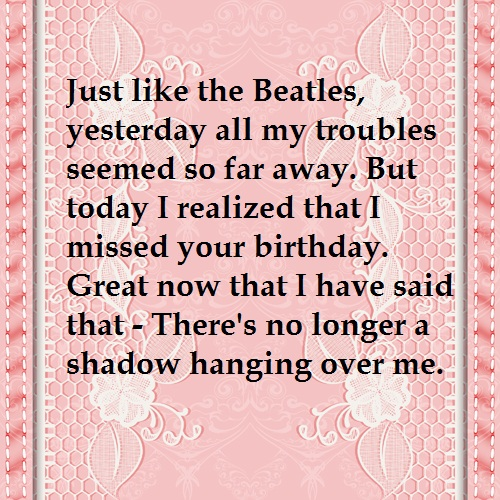 Beatles Belated Birthday Wishes