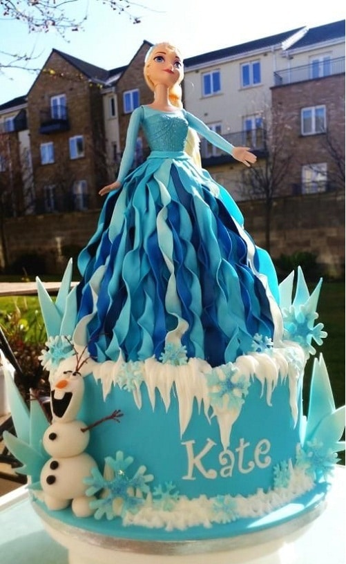 Beautiful Elsa Frozen Birthday Cake