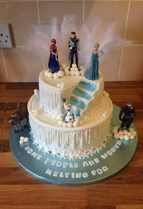 Characters of Frozen Birthday Cake