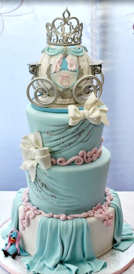 cinderellas carriage beautiful birthday cake images for kids - Birthday Cake Designs Ideas