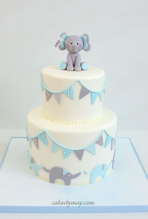 Elephants With Banners And Birthday Cake Images