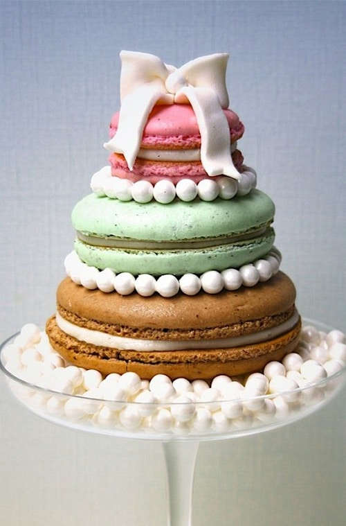 French Macaroons Images of Birthday Cakes with Marshmallows