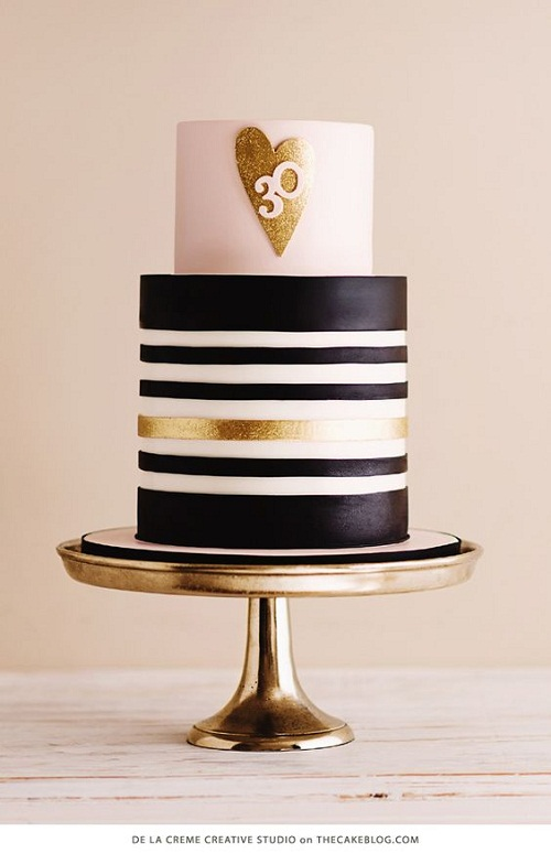 Gold Black And White Sparkling Heart Images Of Birthday Cakes
