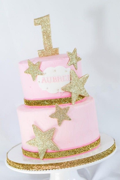Gold Stars Birthday Cake Images & 31 Most Beautiful Birthday Cake Images for Inspiration - My Happy ...