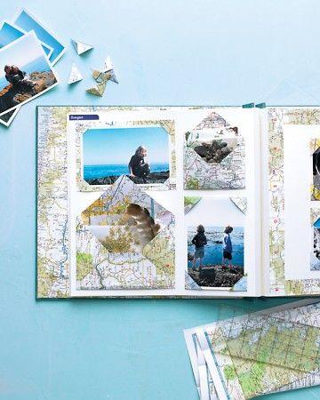Maps Scrapbook Ideas