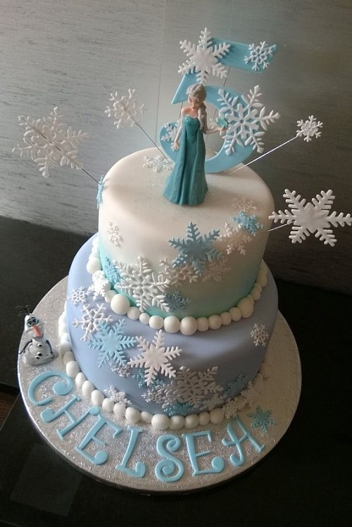 21 Disney Frozen Birthday Cake Ideas and Images My Happy Birthday