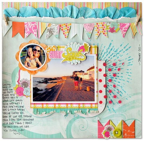Page Flags Scrapbook Ideas