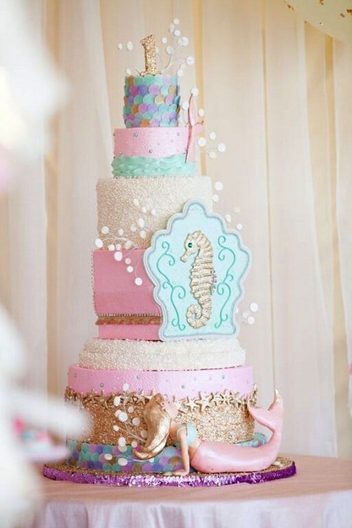 Pretty Mermaid And Seahorse Images Of Birthday Cakes