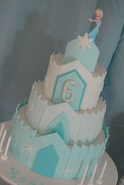 Queen Elsa's Castle Frozen Birthday Cake