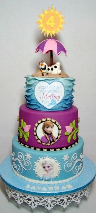 Frozen Cake Design Images : 21 Disney Frozen Birthday Cake Ideas and Images - My Happy ...