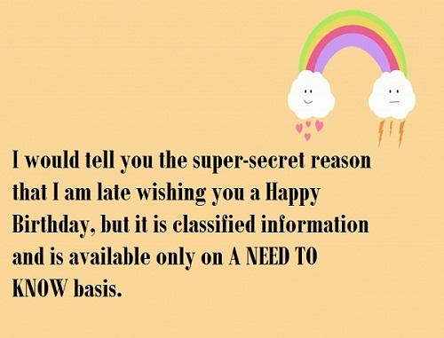 Super Secret Belated Birthday Wishes