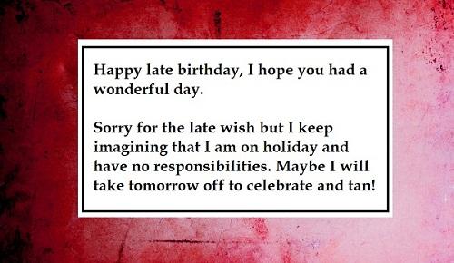 Wonderful Day Belated Birthday Wishes
