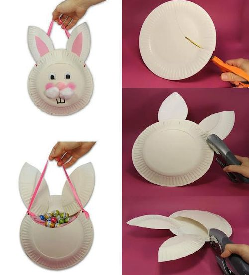 Bunny Bags using Paper Plates DIY Craft Ideas