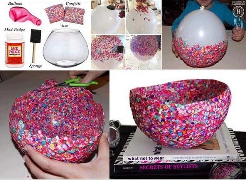 Confetti Bowl DIY Craft Ideas