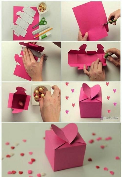DIY Box with Heart Opening Craft Ideas
