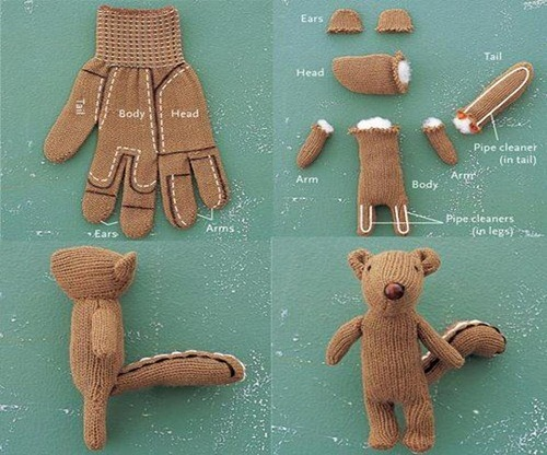 DIY Squirrel from an Old Glove Craft Ideas