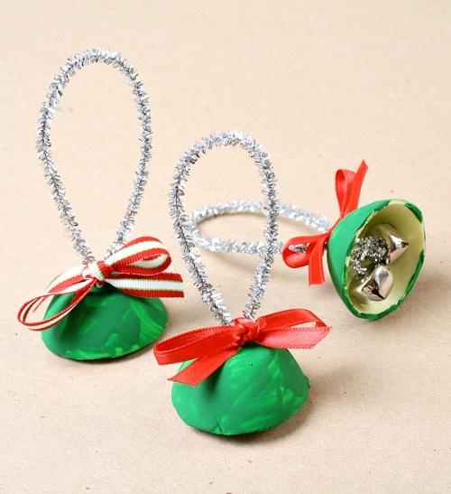 DIY Egg Carton Bells Christmas Projects