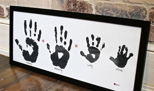 Family Handprints DIY Craft Ideas