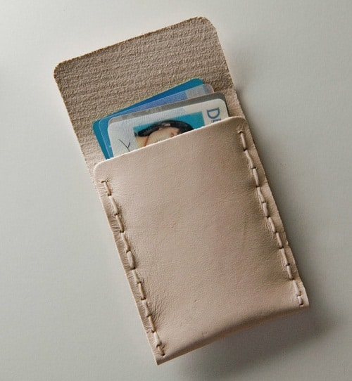 Leather Card Holder DIY Craft Ideas