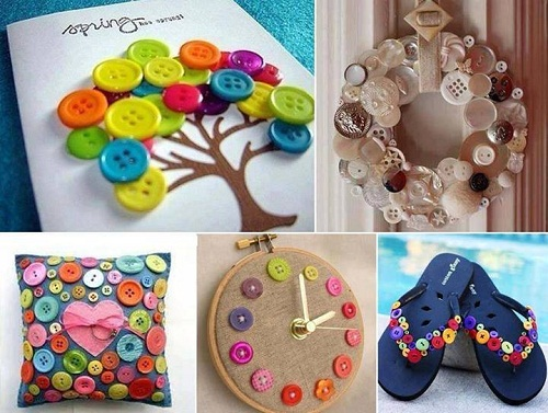 More Button Projects DIY Craft Ideas