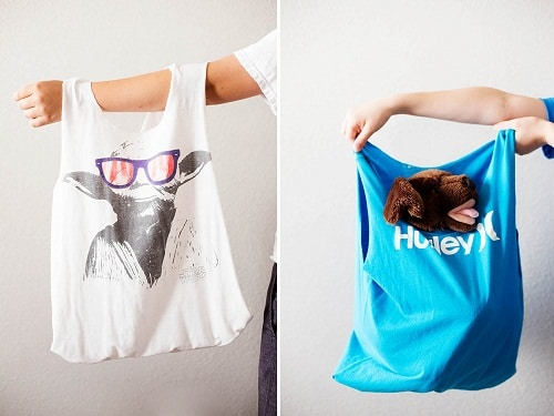 Old Shirts Turned into Bags DIY Craft Ideas