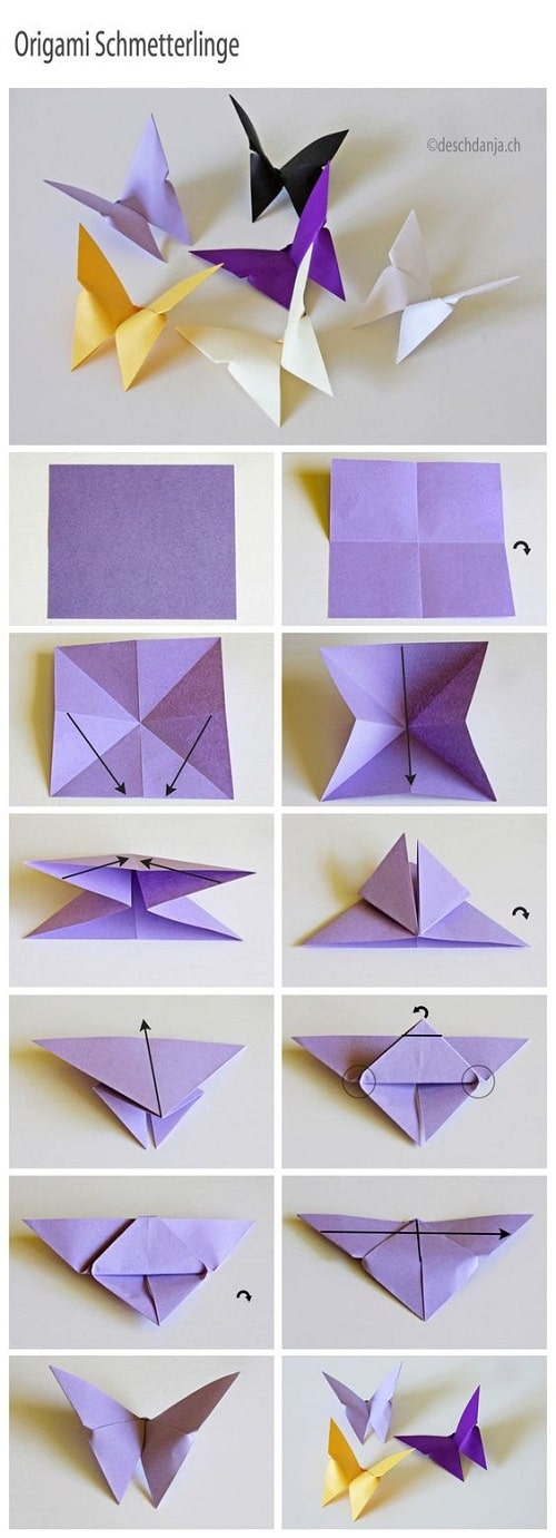 Paper Butterfly DIY Craft Ideas