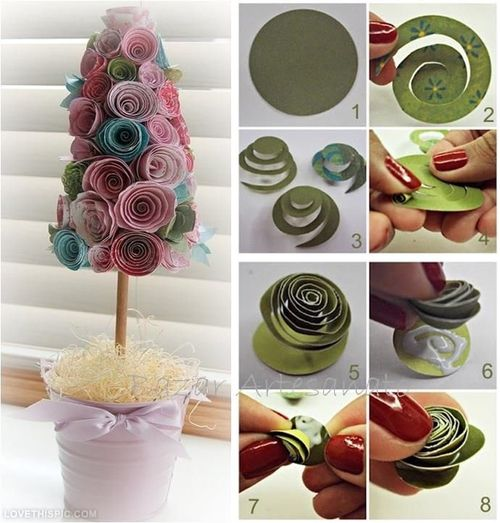 Paper Flower Tree DIY Craft Ideas